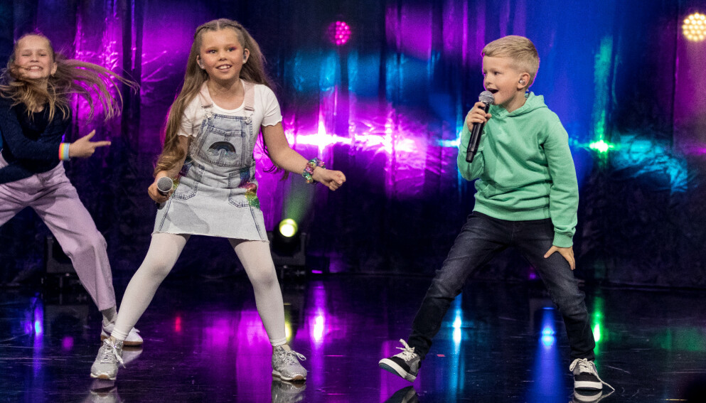 VANT MGP JR: Josefine og Oskar ble årets vinnere. Foto: Hans Otto Bordvik/NRK