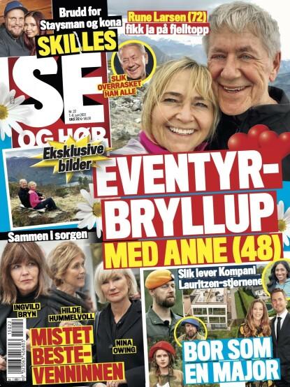 FRIERI: Rune Larsen forteller i et eksklusivt intervju med Se og Hør at han er forlovet. Faksimile: Se og Hør