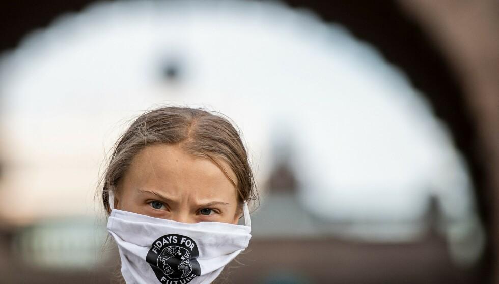 INVITERT: MDG har invitert Greta Thunberg til Stortinget. Foto: Jonathan Nackstrand / AFP / NTB