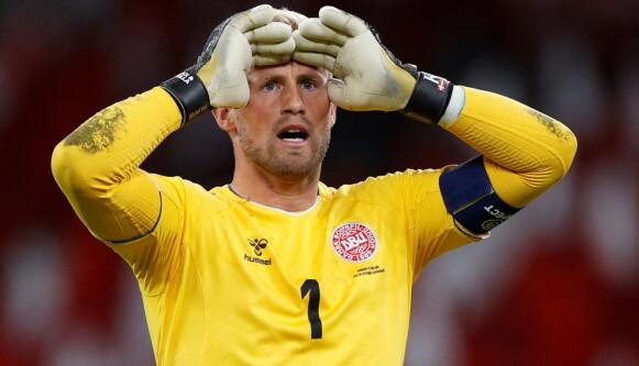LEDEREN: Kasper Schmeichel kan fort vise seg å bli danskenes store leder denne sommeren. Foto: REUTERS/John Sibley/File Photo