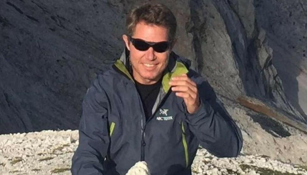 SMITTET: Carsten Lillelund Pedersen og mange andre på laget hans ble smittet i Mount Everest. Foto: Privat