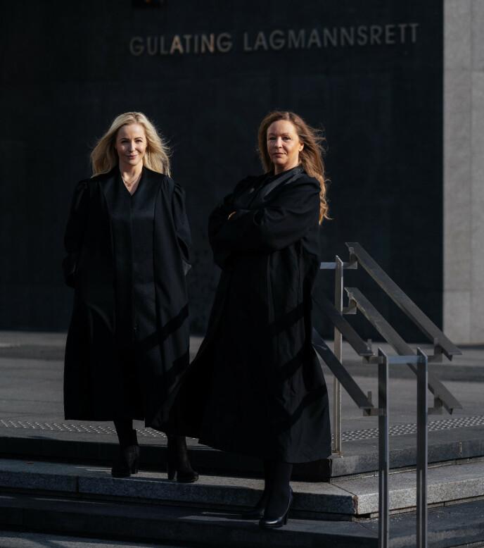 KRITISKE: Advokatene Linn Trones Kaland (t.v) og Rikke Arnesen kan ikke forstå at barnevernet valgte å plassere en sjuåring på institusjon. Foto: Christin Eide