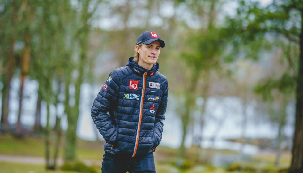 FRISK: Daniel Andre Tande forteller at det går bra med han nå. Foto: Stian Lysberg Solum / NTB