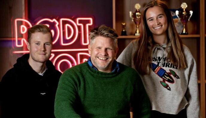 «EM-MORGEN:» Med Fredrik Netskar Filtvedt (t.v), Håvard Lilleheie (midten) og Melina Pambou Sundfør (t.h). Foto: Bjørn Langsem / Dagbladet