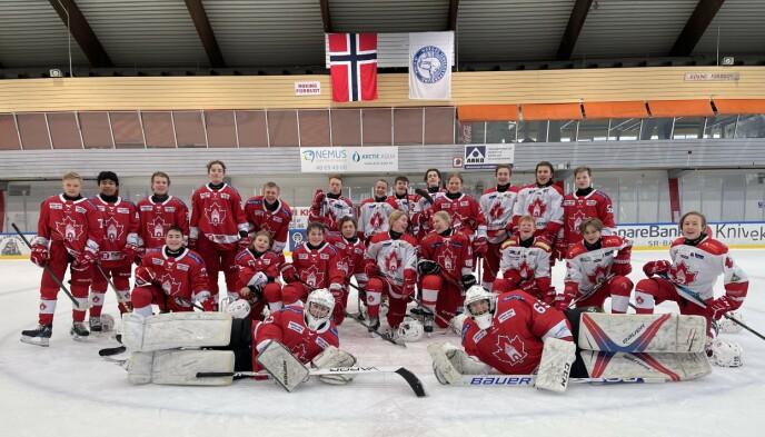 UTEN HALL: Ungdommene i Bergen ishockeyklubb får ikke bruke Bergenshallen til å spille, ettersom den skal brukes til vaksinering. FOTO: Privat