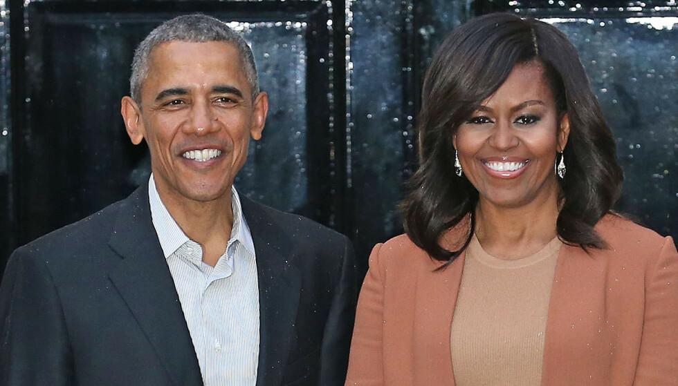 TV-SERIE: Barack og Michelle Obama jobber sammen på nytt prosjekt. Foto: Pa Photos/NTB