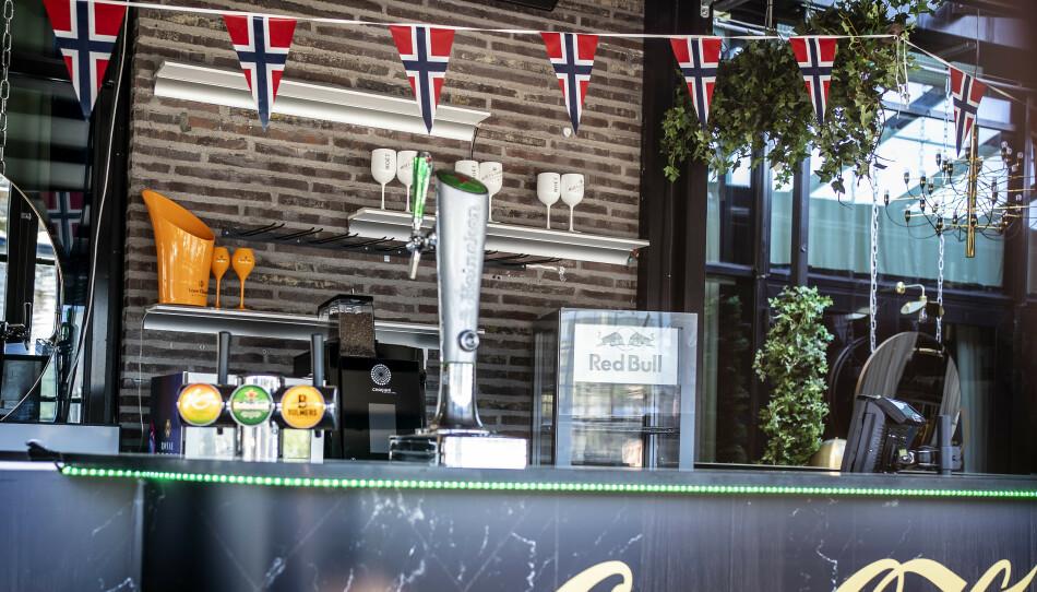 MANGE SMITTET: På utestedet Fire Fine i Trondheim ble mange smittet nasjonaldagen. Foto: Hans Arne Vedlog / Dagbladet
