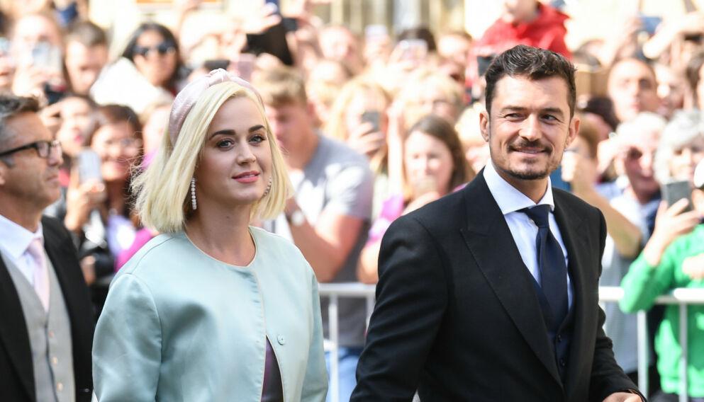 STOLTE FORELDRE: Katy Perry og Orlando Bloom har en datter sammen. Foto: Pa Photos/NTB