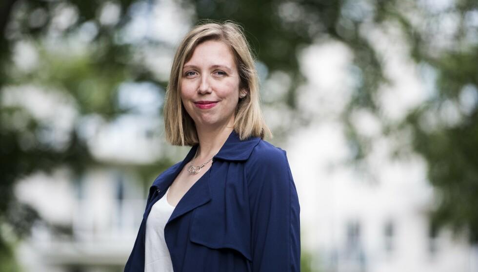 HELENE FLOOD: Hun brakdebuterte med «Terapeuten» i 2019. Nå er Helene Flood klar med sin andre psykologiske thriller. Foto: CARINA JOHANSEN
