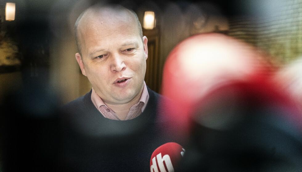 ANKLAGES FOR LØGN: MDG-topp Arild Hermstad mener Trygve Slagsvold Vedum (Sp) er en løgner med Trump-stil. Foto: Hans Arne Vedlog / Dagbladet