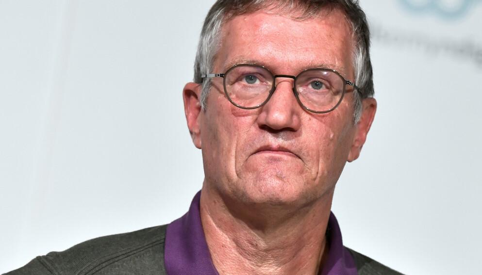 SLÅR TILBAKE: Anders Tegnell kom torsdag med et corona-stikk til danskene. Nå svarer en dansk professor på kritikken. Foto: Sveriges statsepidemiolog, Anders Tegnell. Foto: Reuters / NTB