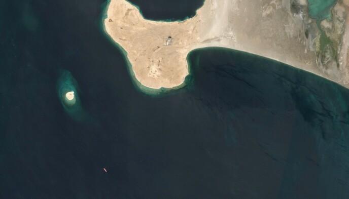 Eksplosivt: Safe FSO ligger noen kilometer nord for Hodeidah i Jemen, med mer enn en million fat olje i lasten, fire ganger mer enn Exxon Valdez-utslipp i 1989. Foto: European Space Agency