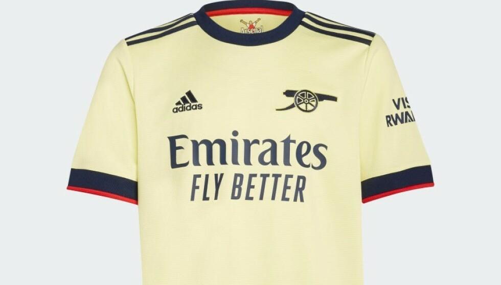 Arsenals nye bortedrakt.