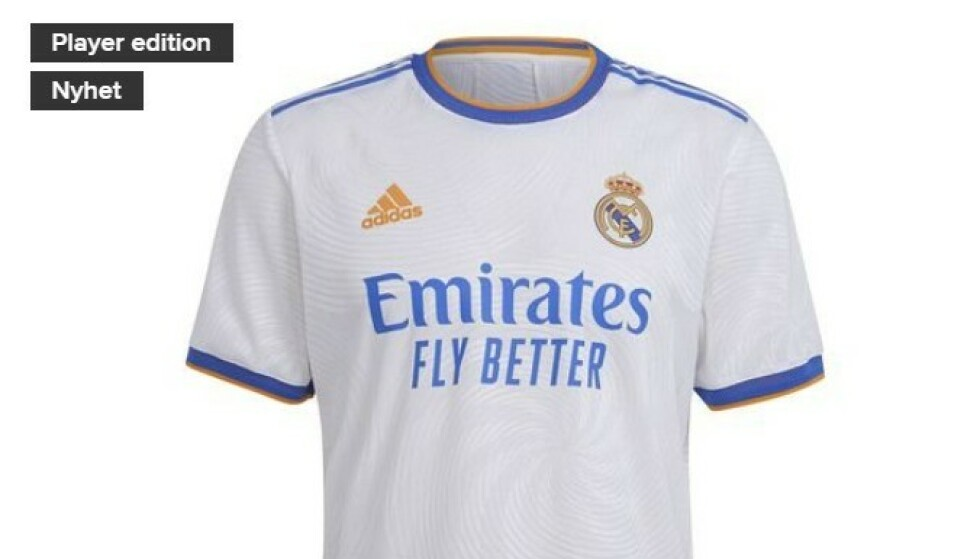 Real Madrids nye hjemmedrakt.