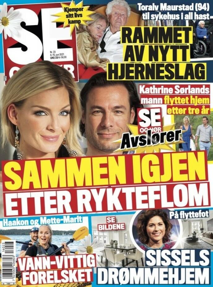 GJENFORENT: Gjenforeningen blir omtalt i tirsdagens utgave av Se og Hør. Foto: Faksimile