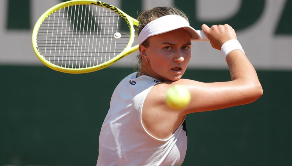 I AKSJON: Krejcikova endte opp med å vinne kampen mot Stephens. Foto: Reuters