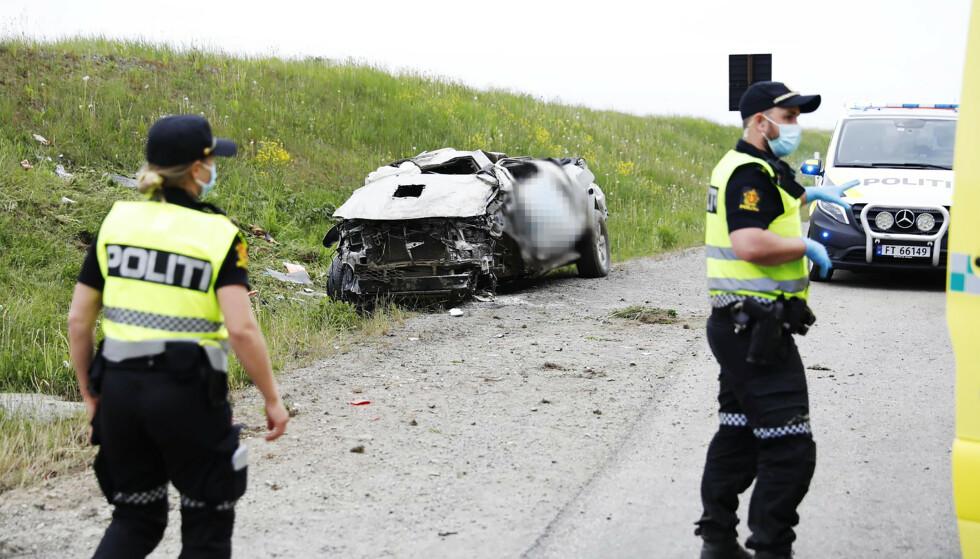 ULYKKE: Den siktede var i en bilulykke på E6. Han er også siktet for drapsforsøk. Foto: Martin Benedikt Sjue / Eidsvoll Ullensaker Blad