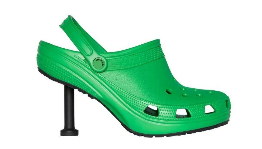 UNIK: Det nye samarbeidet mellom Crocs og Balenciaga er kanskje ikke for den som ønsker å gå under radaren. FOTO: Balenciaga.