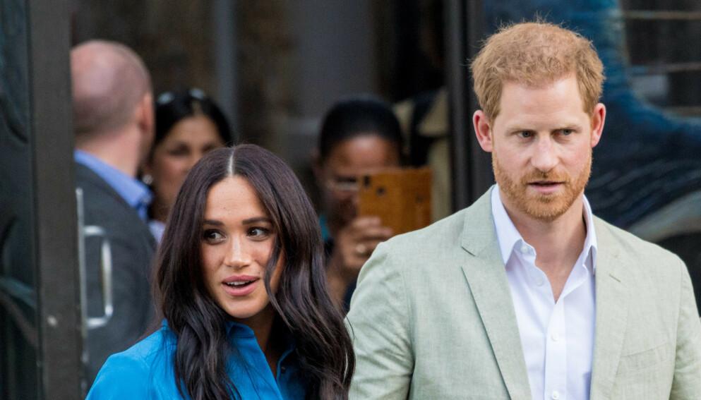 BABYBRÅK: Hertuginne Meghan og prins Harrys navnevalg har skapt en rekke reaksjoner. Foto: SplashNews/NTB