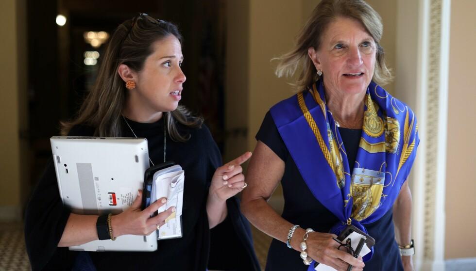 FERDIG: Forhandlingene mellom presidenten og senator Shelley Moore Capito kollapset. Foto: Alex Wong/Getty Images/AFP / NTB