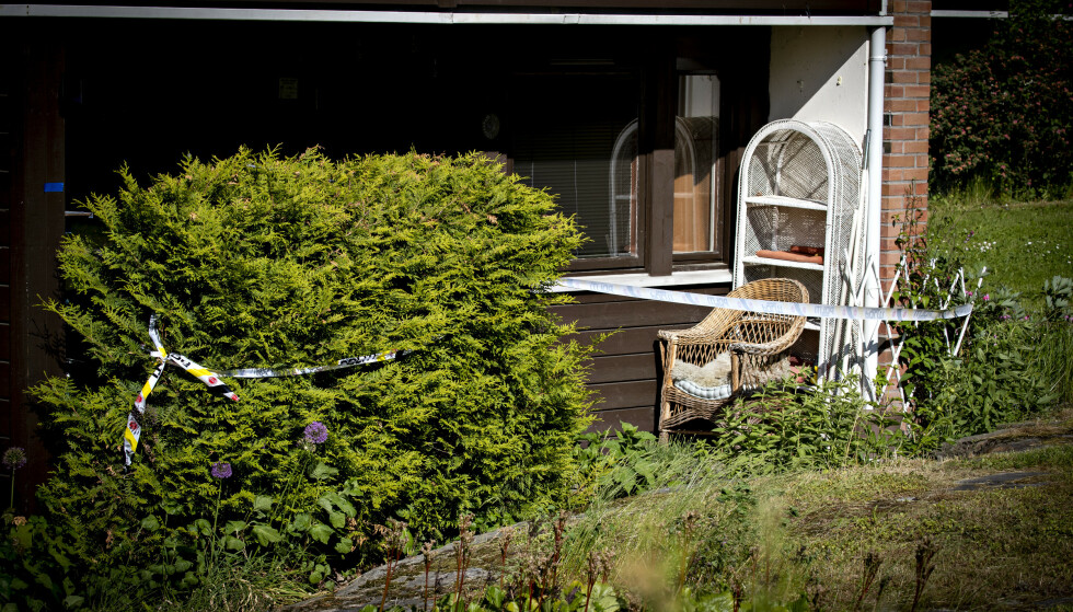 FUNNET I LEILIGHET: Den drepte kvinnen ble funnet i sitt hjem på Hellerud i Oslo. Foto: Bjørn Langsem / Dagbladet