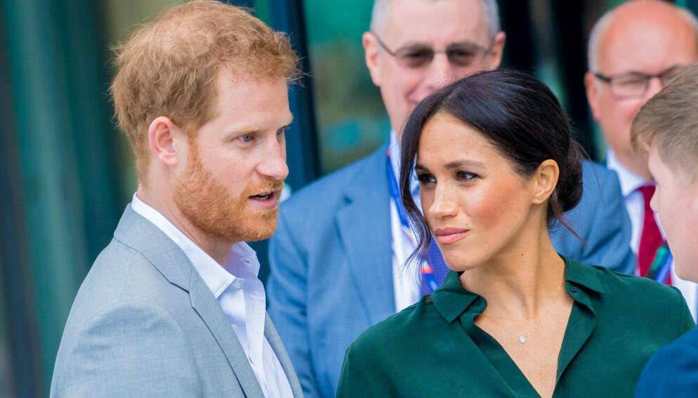 LILIBET: Prins Harry og hertuginne Meghan valgte å kalle opp sin første datter etter dronning Elizabeth. Det falt ikke i god jord hos alle. Foto: Splash News / NTB