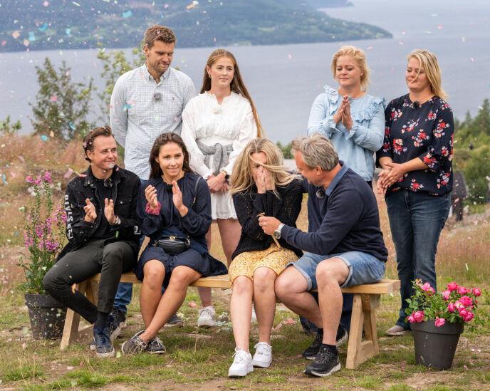 FINALE: Slik så det ut da Veronica og Kurt Rasmussen vant torsdag kveld. Foto: Espen Solli / TV 2