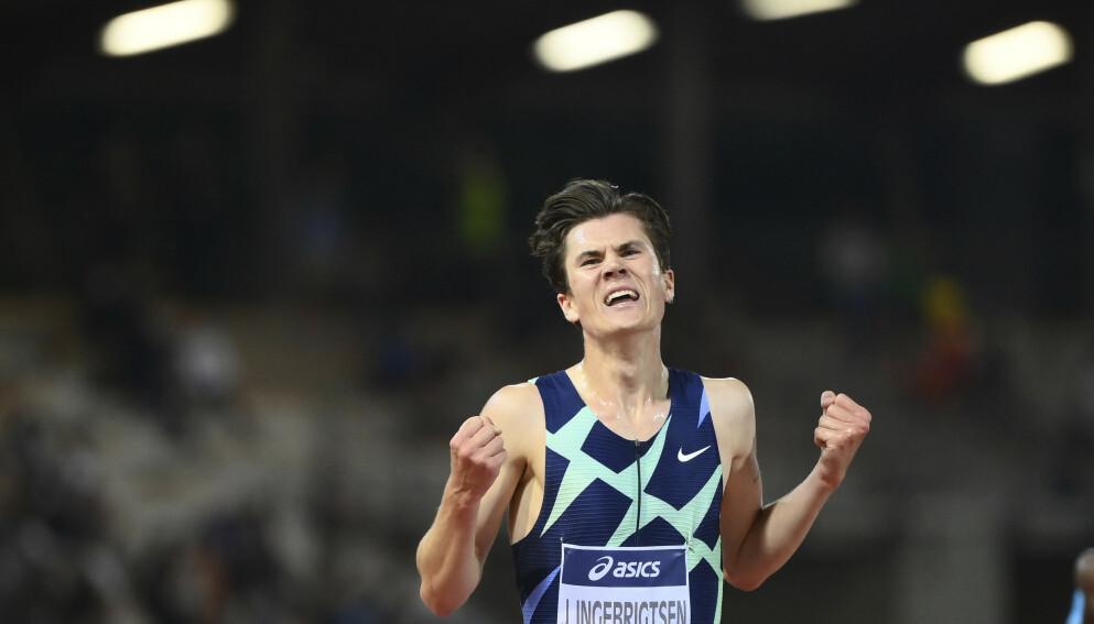 USIKKERHET: Hvilke distanser kommer Jakob Ingebrigtsen til å løpe under OL, er fortsatt usikkert. Foto: AP