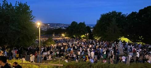 Flere tusen festet i park