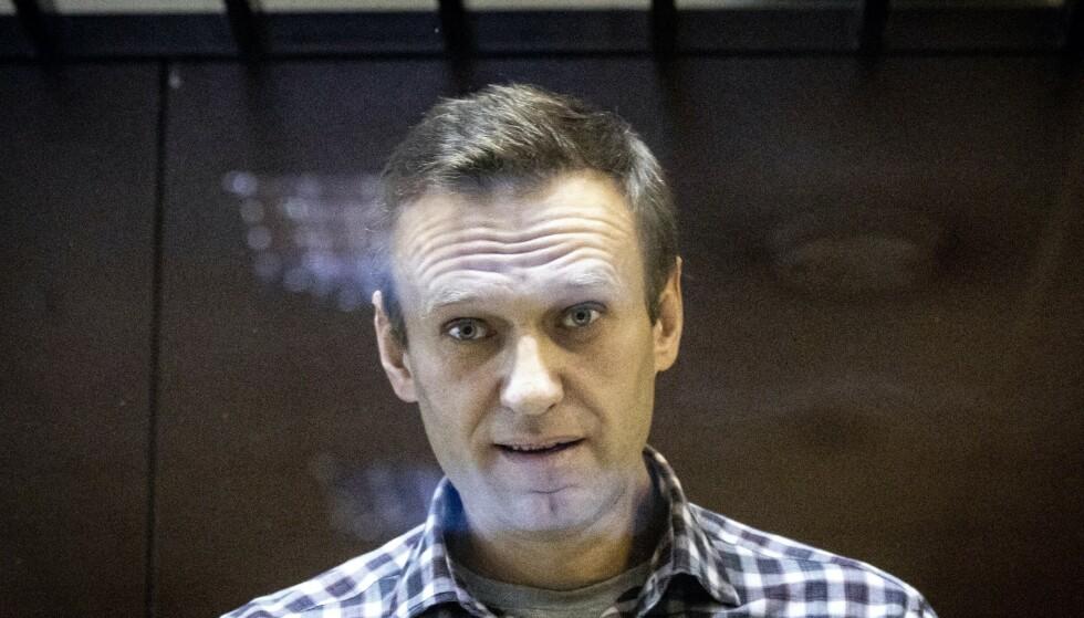 OPPOSISJONSLEDER: Forgiftningen og fengslingen av Aleksej Navalnyj blir trolig et sentralt tema på møtet mellom Putin og Biden. Foto: AP Photo/Alexander Zemlianichenko / NTB