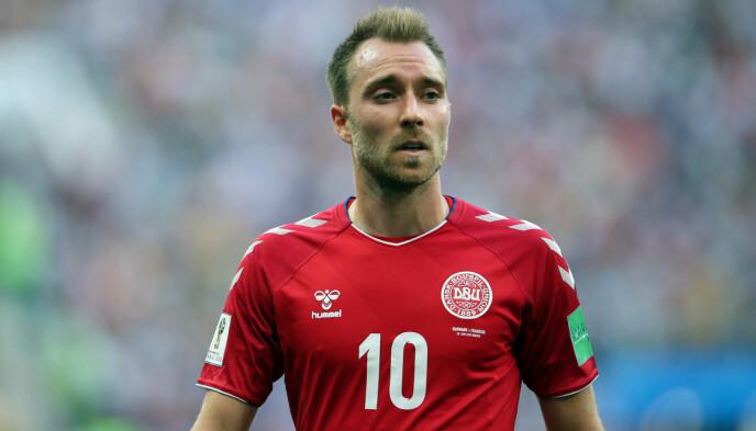 KOLLAPSET: Christian Eriksen fikk hjertestans under kampen mellom Danmark og Finland. Foto: Pa Photos