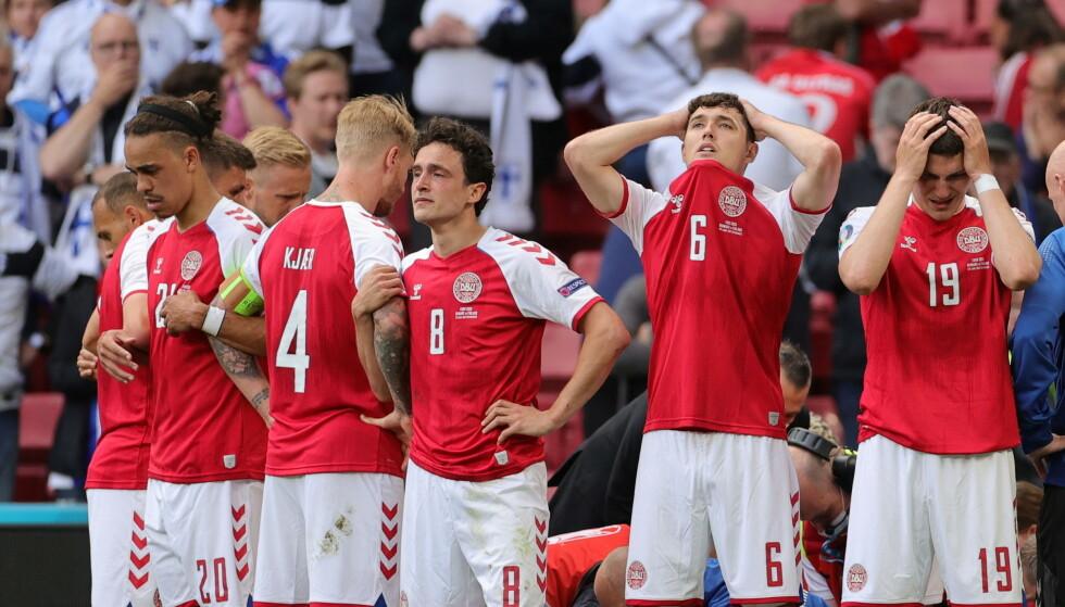 KNUST: De danske spillerne fikk en marerittkveld i Parken. Foto: Reuters
