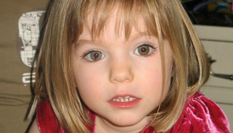 FORSVANT: Tre år gamle Madeleine McCann forsvant i Portugal i 2007. Foto: Shutterstock / NTB