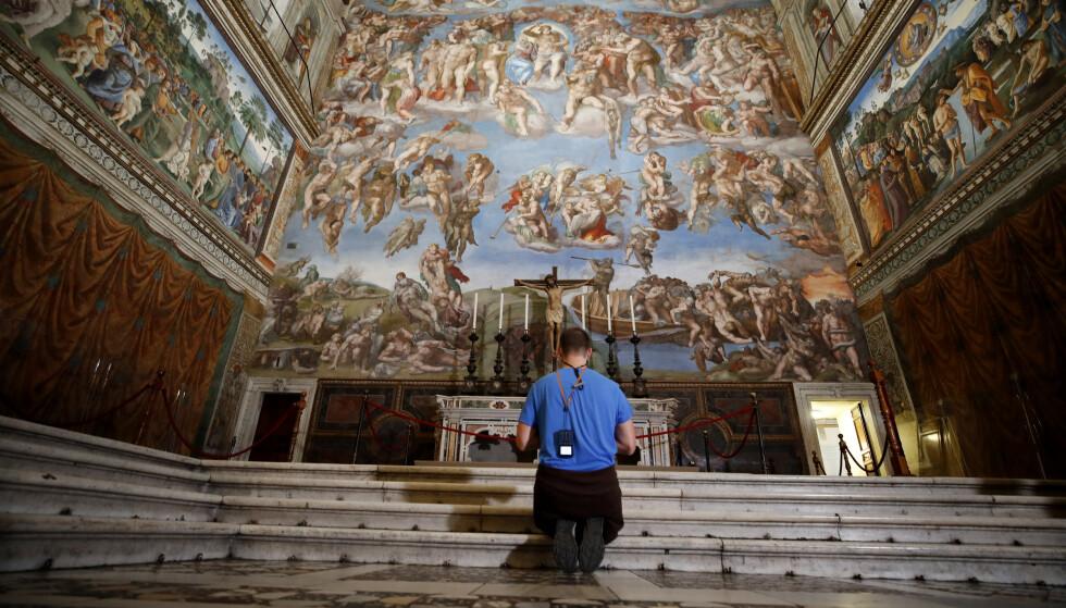 FRESKOMALERI: I følge en pressemelding inneholder funnet blant annet freskomalerte vegger, gulv- og veggoppvarmingssystemer. Foto: Alessandra Tarantino