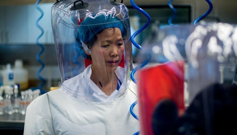 FÅR SKYLDA: Forskeren Shi Zhengli blir av flere beskyldt for å være årsaken til coronaviruset. Selv mener hun at hun er uskyldig. Foto: Johannes Eisele / AFP / NTB