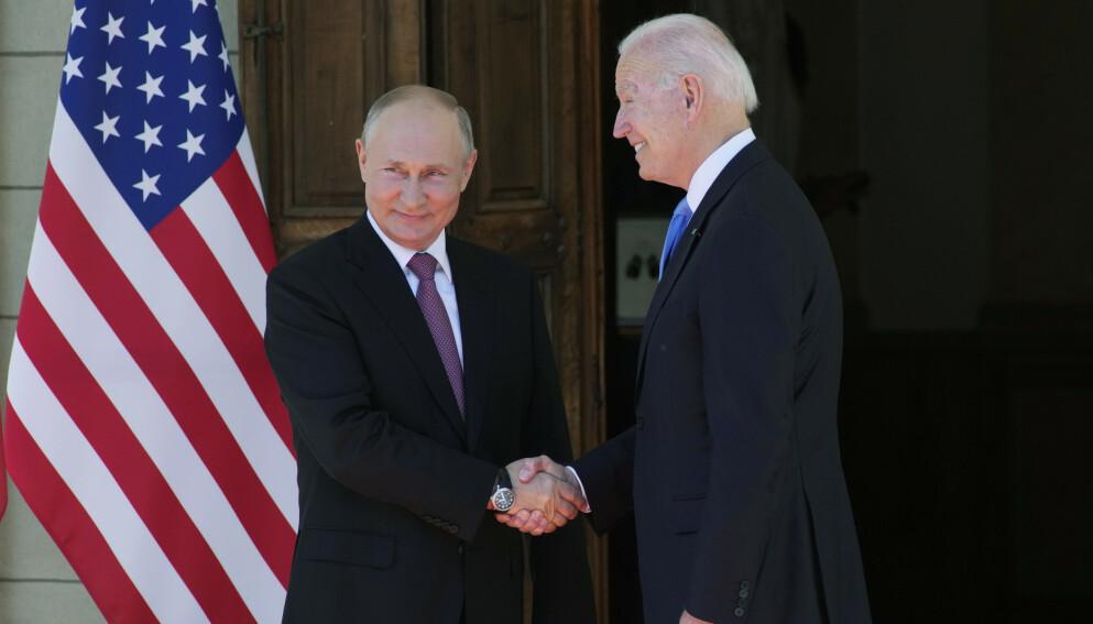 TOPPMØTE: Putin og Biden etter toppmøtet i Genéve Foto: AP Photo/Alexander Zemlianichenko