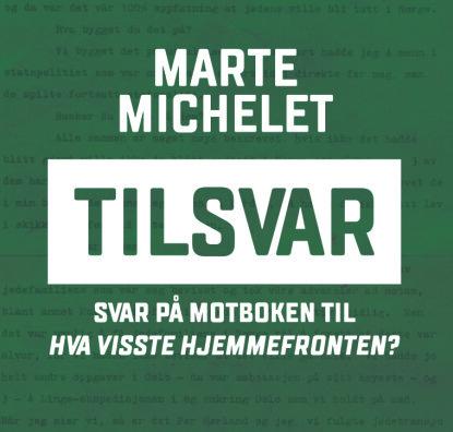 TILSVAR: Marte Michelet forsvarer seg mot kritikken av hennes redelighet. Foto: Gyldendal Norsk Forlag.