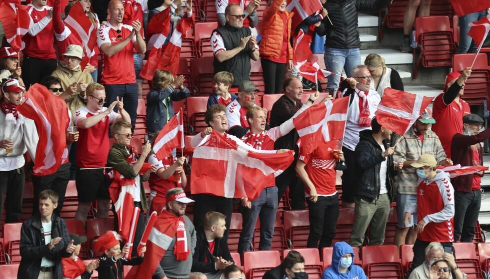 AVGJØRENDE: Danskene kan juble, etter at Finland ikke maktet å få poeng mot Russland. Foto: AP