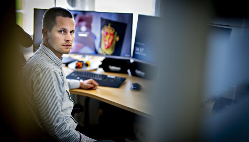 KRITISK: Politioverbetjent Vemund Eggen Sæther ønsker politisk engasjement for å få stengt ned Omegle og liknende chat-tjenester. Foto: Bjørn Langsem / Dagbladet