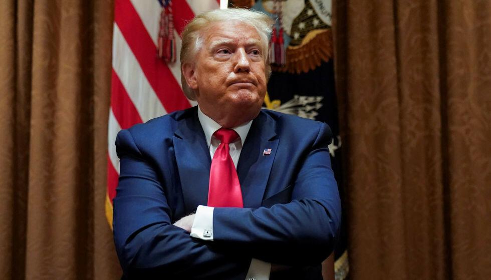 INNRØMMELSE: For første gang innrømmer Donald Trump at han ikke vant valget. Her er Trump avbildet i Det hvite hus, 10. juli 2020. Foto: REUTERS / NTB Scanpix