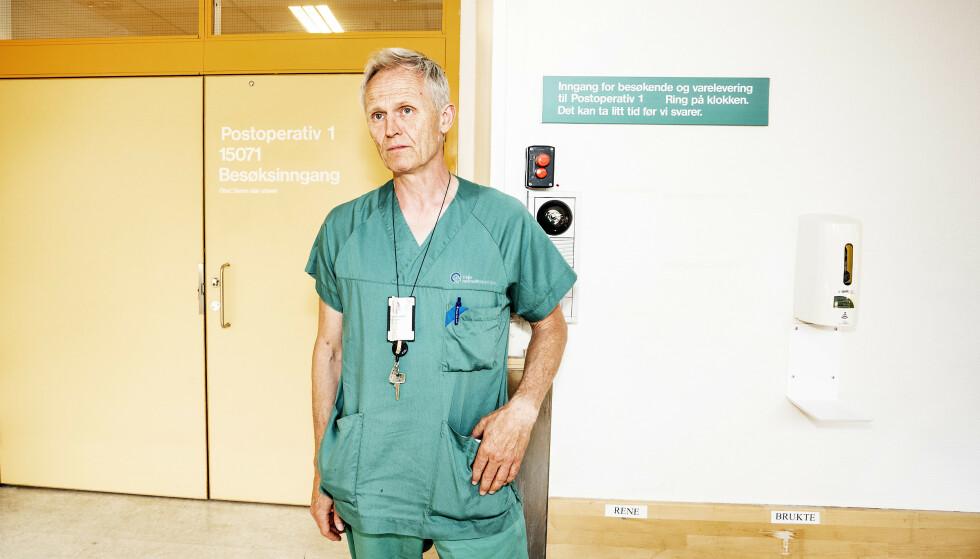 - SYND: Donoransvarlig lege Dag Wendelbo Sørensen ved Ullevål sykehus er kritisk til at det har tatt mange år å utrede organdonasjonsmetoden cDCD. - Jeg synes det er veldig synd. Foto: Hans Arne Vedlog / Dagbladet