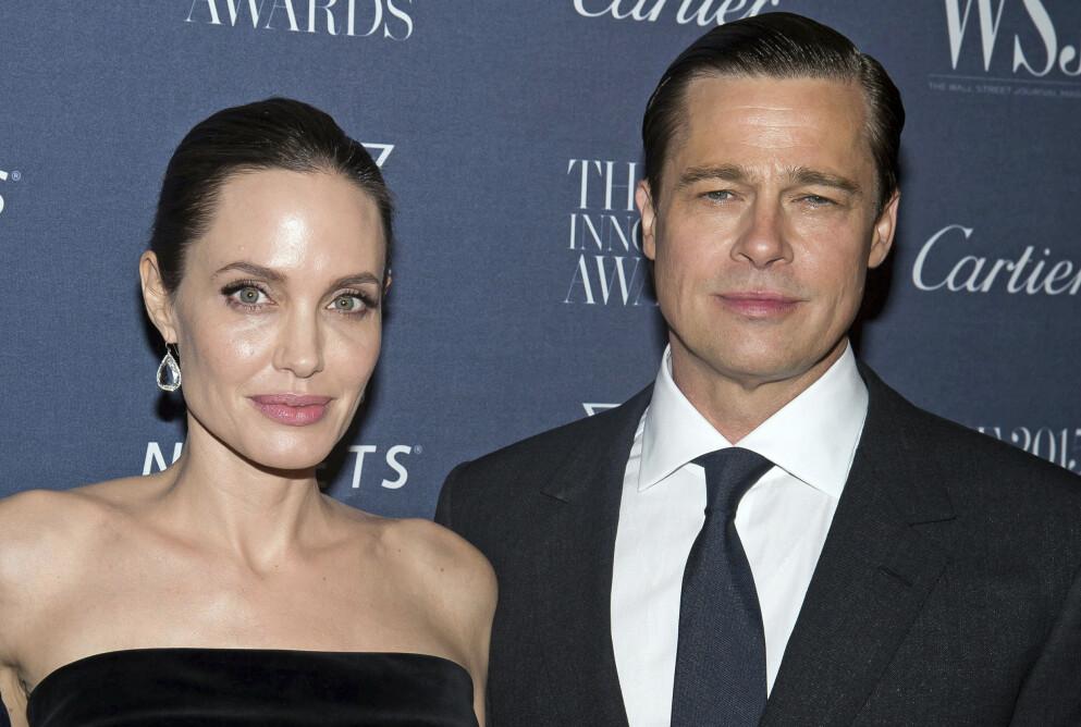 I RETTEN: Eksparet Angelina Jolie og Brad Pitt krangler fortsatt om hvem forsørgeransvaret for barna. Foto: Charles Sykes / Invision / AP / NTB