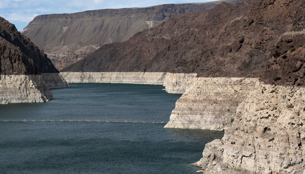 Low water: Drought has led to very low water levels in many water bodies and lakes.  Photo from Lake Mead near Las Vegas, Nevada Photo: REUTERS / NTB.