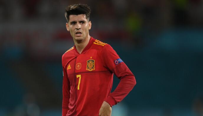 SKUFFET: Alvaro Morata scoret det første målet, men etter flere bom i andre omgang, gikk han igjen misfornøyd av banen.