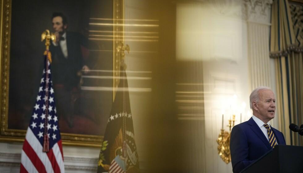 SER LYSET: President Joe Biden har sett lyset når det gjelder Kina. Her er han tilbake i Det hvite hus etter turen til Europa. Foto: AFP / NTB