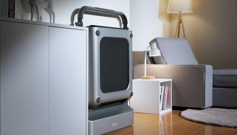 WalkingPad kan brettes sammen etter bruk og plasseres et sted der den tar minimalt med plass.
