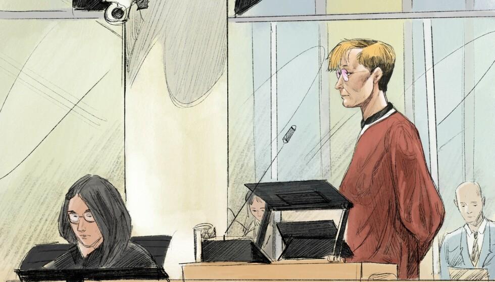 DØMT: Laila Bertheussen får anke straffeutmålingen, men ikke selve skyldspørsmålet. Tegning: Fedor Sapegin