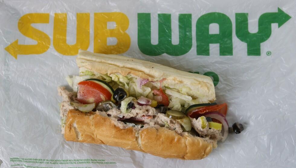 TUNFISK?: New York Times klarte ikke å påvise tunfisk-DNA i tunfisk-sandwichen fra Subway. Foto: Justin Sullivan / Getty / NTB