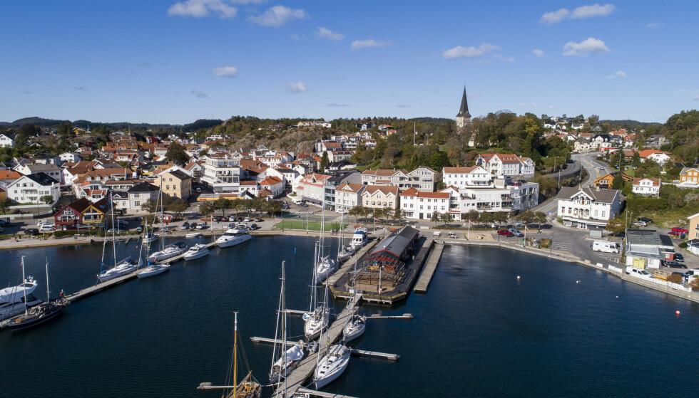 SMITTEHOPP: Grimstad er nå inne i sin verste smitteperiode under pandemien med totalt 26 smittede Foto: Tore Meek / NTB