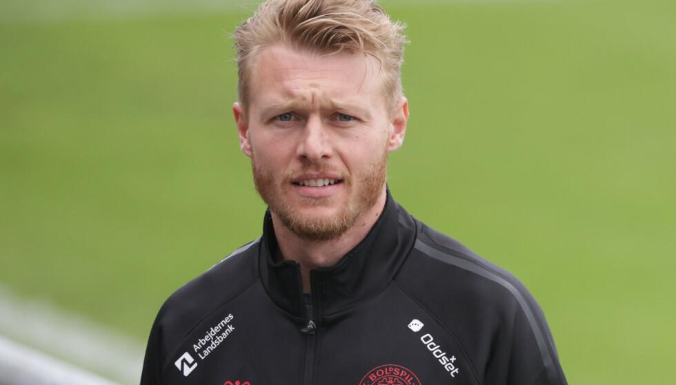 VIDERE: Simon Kjær og Danmark er videre fra gruppespillet i EM.